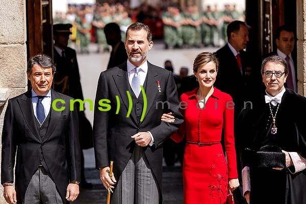 Das Spanische Königspaar Felipe + Letizia in Alcala de Henares