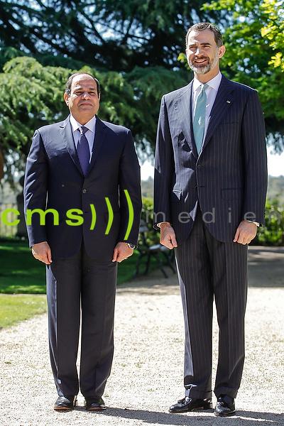 King Felipe meeting  with egyptian president Abd al-Fattah Said Husain Chalil as-Sisi 30.4.2015
