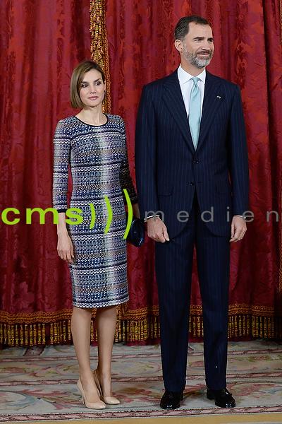 Spanish Royals Lunch with egyptian president Abd al-Fattah Said Husain Chalil as-Sisi 30.4.2015