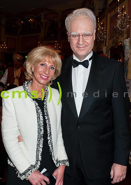 Markus Söder als Edmund Stoiber mit Frau Karin Baumüller-Söder- Veitshöchheim 29.1.2016