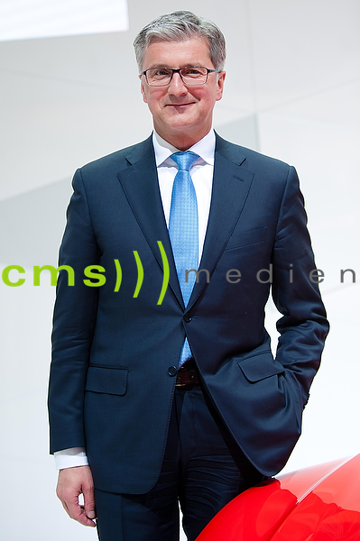 Rupert Stadler ist Vorstandsvorsitzender der AUDI AG - Jahrespressekonferenz der AUDI AG in Ingolstadt - Audi Forum 10.3.2014