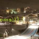Lech am Arlberg bei Nacht - Fotoposter 60 x 40 cm