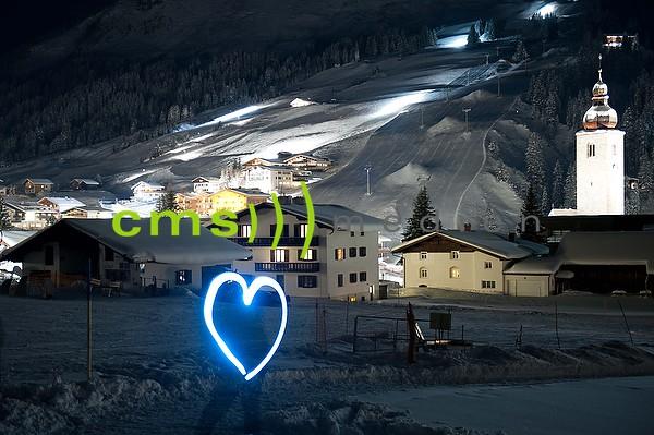 Lech am Arlberg bei Nacht - Fotoposter - Bildnummer 7099