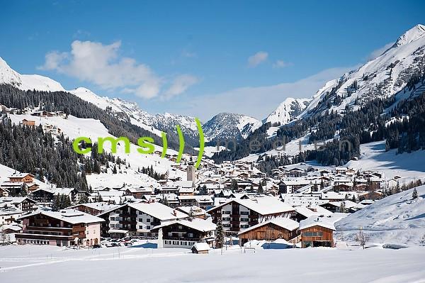 Skigebiet Lech am Arlberg am Tag - Fotoposter - Bildnummer 7102