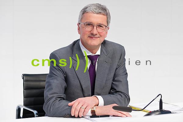 Rupert Stadler , Vorstandsvorsitzender der AUDI AG - Jahrespressekonferenz, Ingolstadt 3.3.2016