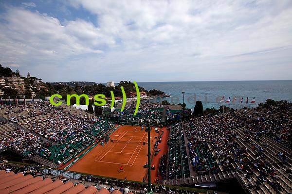 CMS-MEDIEN BILDARCHIV: Monte-Carlo Rolex Masters ATP Tennisturnier: Center-Court mit Blick auf das Meer