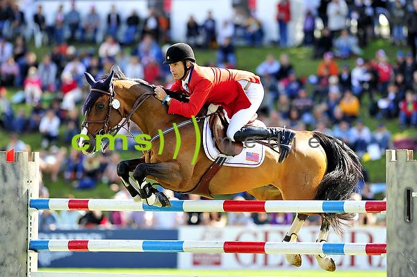 CMS-MEDIEN BILDARCHIV: CSIO Schweiz - Longines Grand Prix 7.6.2009: Richard SPOONER (USA) - Cristallo
